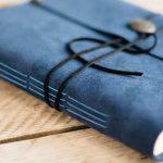 leren Blauw Bruiloft gastenboek